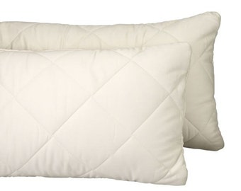 Greenbuds Organic Cotton/Wool Quilted Toddler Pillow Cover/Protector