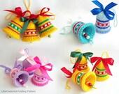 088 Knitting Pattern - Bells decor New Year pattern - Amigurumi - by Zabelina Etsy