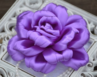 "Satin Fabric Flowers, 4"" Satin Fabric Flowers, Satin Roses, Satin Rose, Lavender Satin Flowers, Satin Fabric Roses, 4"" Fabric Roses"