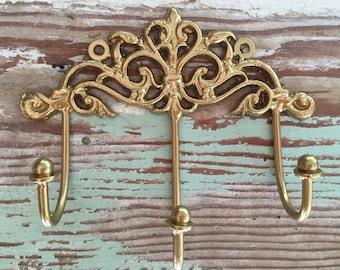 Gold key hooks | Etsy