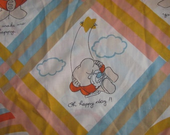 Vintage Ziggy Twin Fitted Sheet/Material - Romantic Theme - Cartoon Sheet - You Make Me Happy, I Love, Love, Love You - Etc
