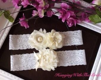 Wedding garter set, bridal garter, wedding garter,ivory garter set,toss garter,wedding garter belt
