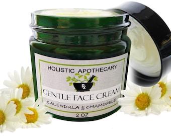 Handmade Organic Calming CHAMOMILE Face Cream For Dry, Sensitive Skin Calming & Healing Moisturizer