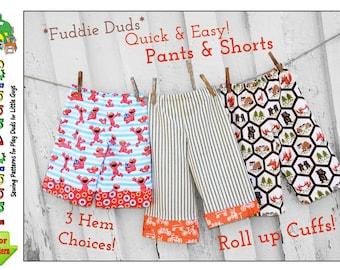 Boy's Sewing Pattern pdf. Boy's Pants Pattern. Lounge pants, Pajama Pants Pattern, Beach Shorts, Shorts Pattern, Ruffle Pants. Fuddie Duds