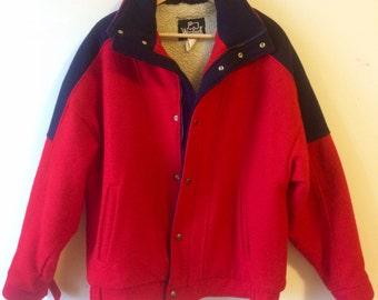 Fleece wool coat | Etsy
