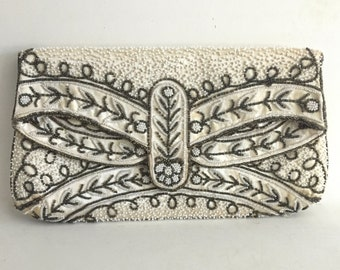 Vintage French Beaded Clutch