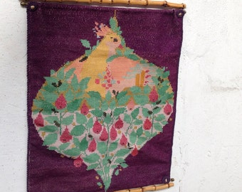 Vintage retro wall hanging wall weaving embroidery