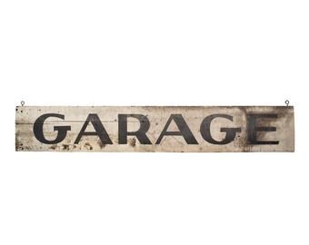 Vintage Sign / 1920's / Original Wooden Garage Sign / Vintage Advertising / Service Station Sign