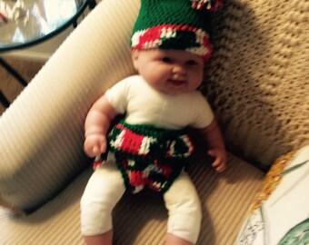 Lil Elf Diaper Cover & Hat