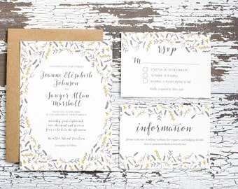 Fern and Flora Wedding Invitation