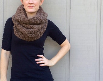 2 Crochet Patterns: Infinity Scarf cowl, chunky bulky yarn, DIY, Roving yarneasy crochet P D F, scarf, cowl, Evie Cowl & Adele Cowl