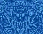 Australian Indigenous Fabric: Untitled in Blue