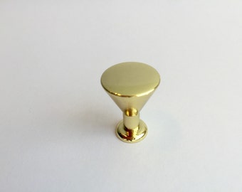 Brass Cabinet Knob, 3/4'' Peggy Polished Drawer Pull, Drawer Knob