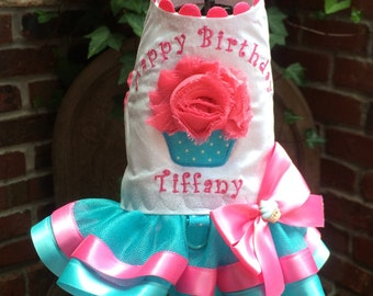 BIRTHDAY:  Happy Birthday Cupcake Dog Harness