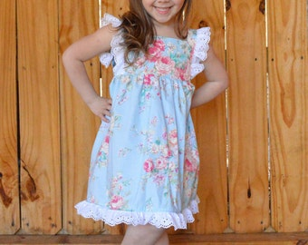 The Amelie Dress//Easter Dress//Sizes 2-10//Hair Piece Included//Spring/Summer Dress