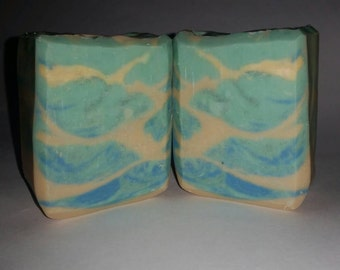 Precious Turquoise - Cold Process Castile Soap - Made with organic aloe vera juice