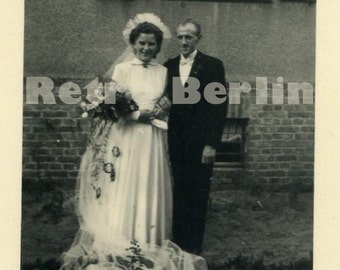Vintage Wedding Photos 1930s, Collector Photo 1930s Couple at Wedding in Potsdam, Germany