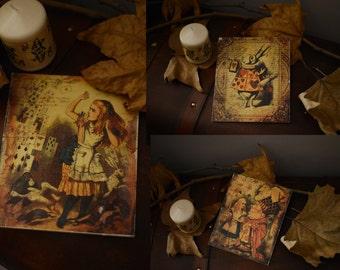 Alice in Wonderland Handmade woodsign