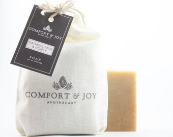 Oatmeal, Milk & Honey Soap, Handmade Soap, Vegan Soap, Unscented Soap, Fragrance Free Soap, Natural Soap