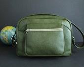 Vintage Shoulder Bag American Luggage Olive Green Vintage Luggage,  Carry On Bag Tote