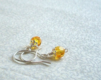 Susan -  Sunshine Yellow Earrings, Ready to Ship