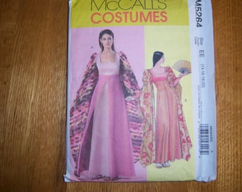 McCall's 5264 - M5264 - OOP Pattern, Size EE (14-20) Asian/Fantasy Costume, Game of Thrones, Lord of the Rings, UNCUT