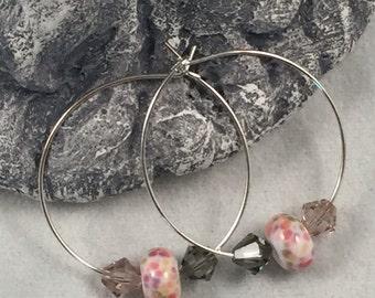 English Teatime Hoop Earrings