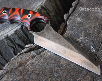 """Handcrafted FOF """"Catacomb"""", survival, defense or tactical ring blade"""