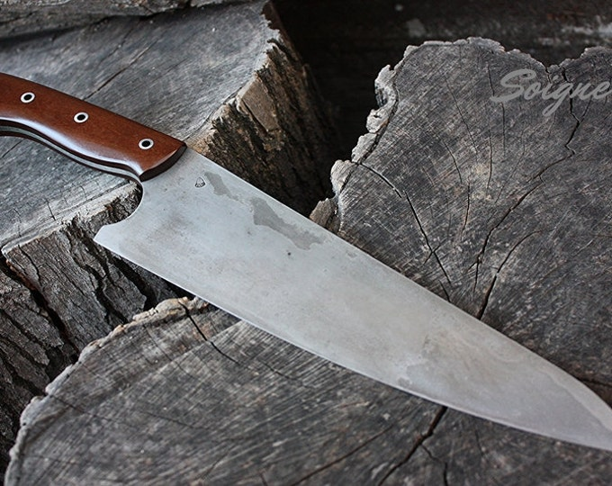 "Handcrafted FOF ""Soigne"" full tang high carbon alloy chef's knife"
