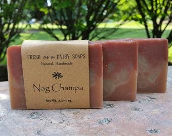 Nag Champa, Natural Handmade Soap, Incense soap, Cold Process, Vegan