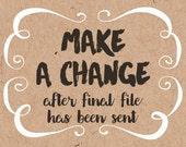 Make a change to a finalized file