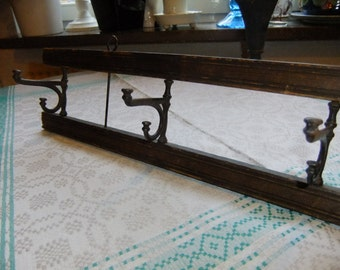 Vintage Swedish Early 1900s  Hanger in wood and iron