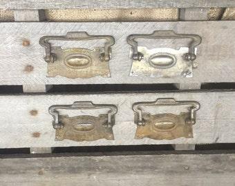 Set of 4 Vintage Drawer Pulls