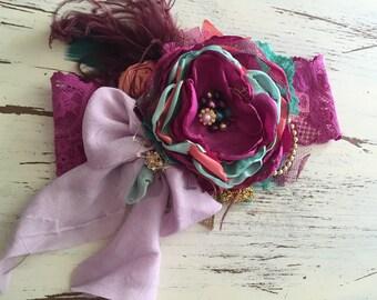 Baby Girl Headband- Matilda Jane Headband- Baby Headband- Flower Girl Headband- Newborn Headband