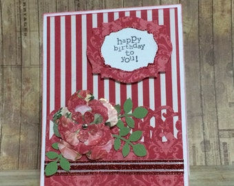 Birthday card, greeting card, all occasion card, floral design
