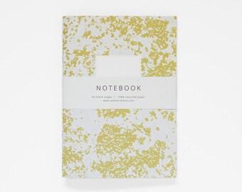 THE BROOK notebook A5 / mustard yellow notebook / blank journal / composition notebook