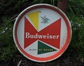 Vintage Budweiser Bowtie Beer Serving Tray King of Beers