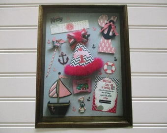 CHECK THIS OUT! A very creative Dad put this shadowbox together for Mom!  That's my number in the top right hand corner :)