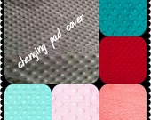 Changing Pad Cover Minky 19 colors Baby Minky Changing Pad Nursery