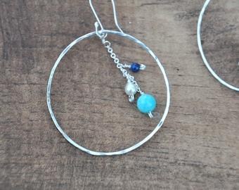 Ocean Blue Hoops