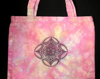 pink sherbet dandyamana-dhanurasana mandala tote