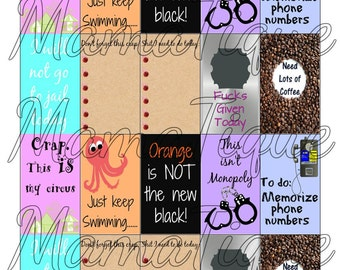 Printable Stickers Adult Stickers Adult Content Adulting Stickers OITNB Stickers Rough Day Coffee Planner Stickers