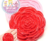 Big Camellia Flower Flexible Silicone Mold 727m* Fondant Royal icing Chocolate Gumpaste Candy FIMO Polymer Clay BEST QUALITY