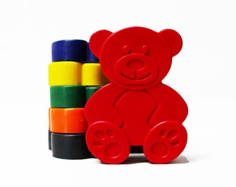 Bear crayons - Birthday Gift - Party Favour - Set of 6 - Woodland Birthday - Teddy bear picnic - Childrens Party Gift - Baby shower