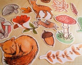 woodland set of 14 stickers