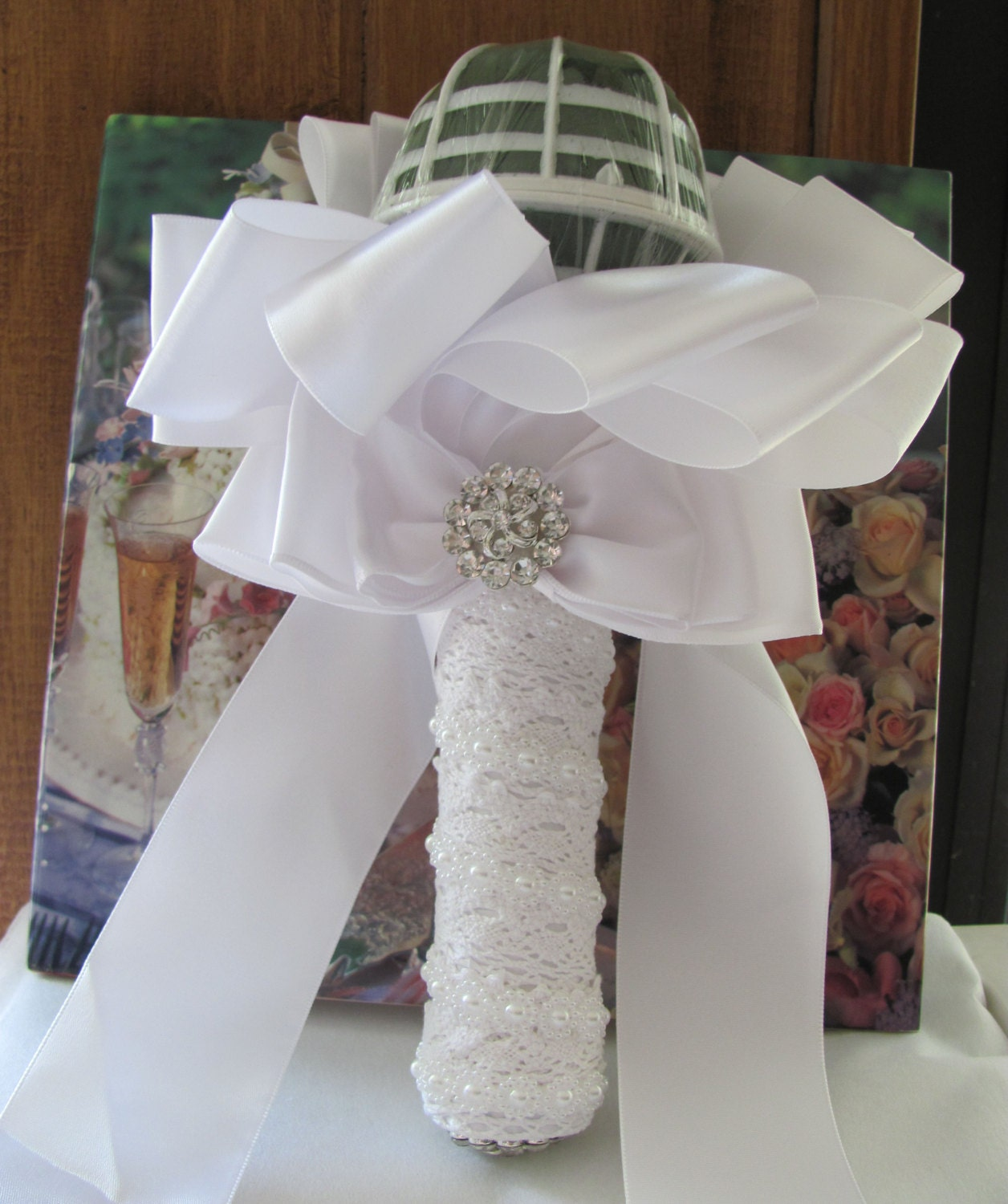 Handmade Wedding Flowers: Wedding Bouquet Holder Create Your Own DIY Bridal Bouquet
