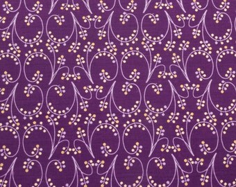 ℳ Purple Lilies of the Valley 100% Cotton 45 Inches Wide  FC12034