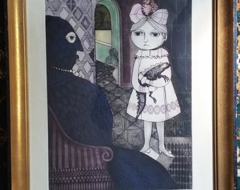 Framed Leticia Tarrago Limited Edition Etching & Aquatinto on Paper