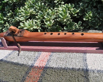 Redwood Walnut Native American style flute in high B by CBF
