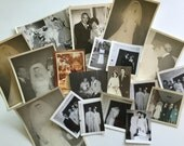 Vintage Collection of Wedding and Bridal Photography Retro 1930s 1940s 1950s 1960s wedding ceremony bride and groom and dress